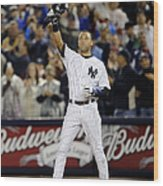 Lou Gehrig and Derek Jeter Wood Print
