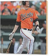 Matt Wieters Wood Print