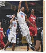 Miami Heat v Los Angeles Clippers Wood Print