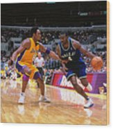 Michael Finley and Kobe Bryant Wood Print
