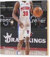 Milwaukee Bucks v Detroit Pistons Wood Print