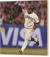Pablo Sandoval and Justin Verlander Wood Print