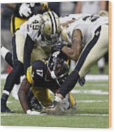 Pittsburgh Steelers v New Orleans Saints Wood Print