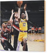 Portland Trail Blazers v LA Lakers Wood Print