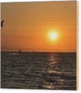Red sea sunset Wood Print