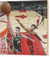 San Antonio Spurs vs. Chicago Bulls Wood Print