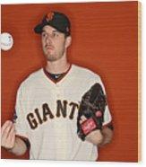 San Francisco Giants Photo Day Wood Print