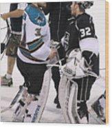 San Jose Sharks v Los Angeles Kings - Game Seven Wood Print