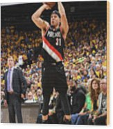 Seth Curry Wood Print