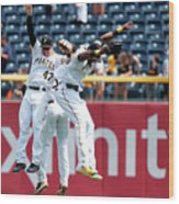 Starling Marte and Gregory Polanco Wood Print