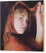 Vermeer's Daughter Wood Print