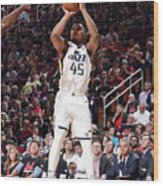 Donovan Mitchell Wood Print
