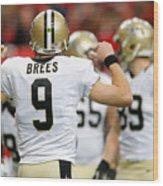 New Orleans Saints v Atlanta Falcons Wood Print