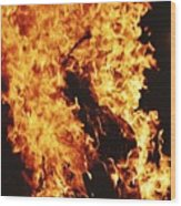 Closeup of Fire at time of festival Wood Print