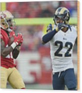 St Louis Rams v San Francisco 49ers Wood Print