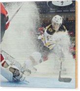 Boston Bruins v New Jersey Devils Wood Print