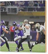 Divisional Round - New Orleans Saints v Minnesota Vikings Wood Print