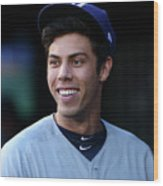 Christian Yelich Wood Print