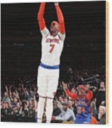 Carmelo Anthony Wood Print