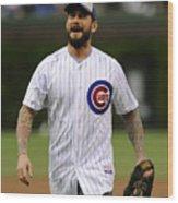Atlanta Braves v Chicago Cubs Wood Print