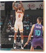 Atlanta Hawks v Charlotte Hornets Wood Print