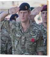 British Troops In Kandahar Participate In A Remembrance Sunday Service Wood Print