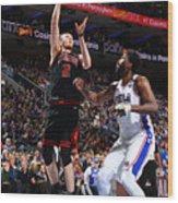 Chicago Bulls v Philadelphia 76ers Wood Print