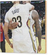 Demarcus Cousins and Anthony Davis Wood Print