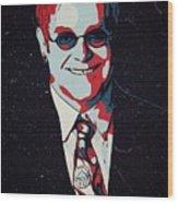 Elton John Artwork Wood Print