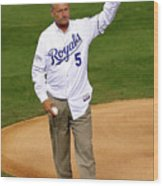 George Brett Wood Print