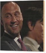 Hideki Matsui and Derek Jeter Wood Print