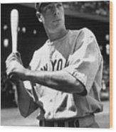 Joe Dimaggio Wood Print