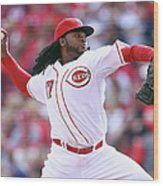 Johnny Cueto Wood Print