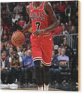 Justin Holiday Wood Print