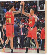 Kent Bazemore and John Collins Wood Print