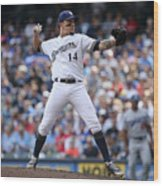 Los Angeles Dodgers v Milwaukee Brewers Wood Print