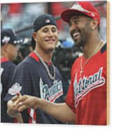 Manny Machado and Matt Kemp Wood Print