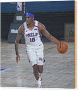Memphis Grizzlies v Philadelphia 76ers Wood Print