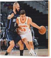 Orlando Magic v Atlanta Hawks Wood Print