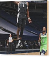 San Antonio Spurs v Minnesota Timberwolves Wood Print