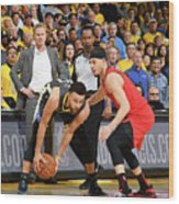 Stephen Curry and Seth Curry Wood Print