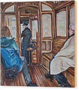 The Tram Wood Print