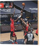 Toronto Raptors v Minnesota Timberwolves Wood Print