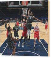 Washington Wizards v Minnesota Timberwolves Wood Print