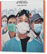 2020 Guardians of the Year Frontline Healthcare Workers Wood Print
