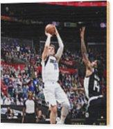 2021 NBA Playoffs - Dallas Mavericks v LA Clippers Wood Print