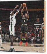 2021 NBA Playoffs - Milwaukee Bucks v Atlanta Hawks Wood Print