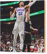 2021 NBA Playoffs - Philadelphia 76ers v Atlanta Hawks Wood Print