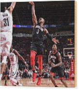 Chris Paul Wood Print