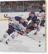 Edmonton Oilers v New York Islanders Wood Print